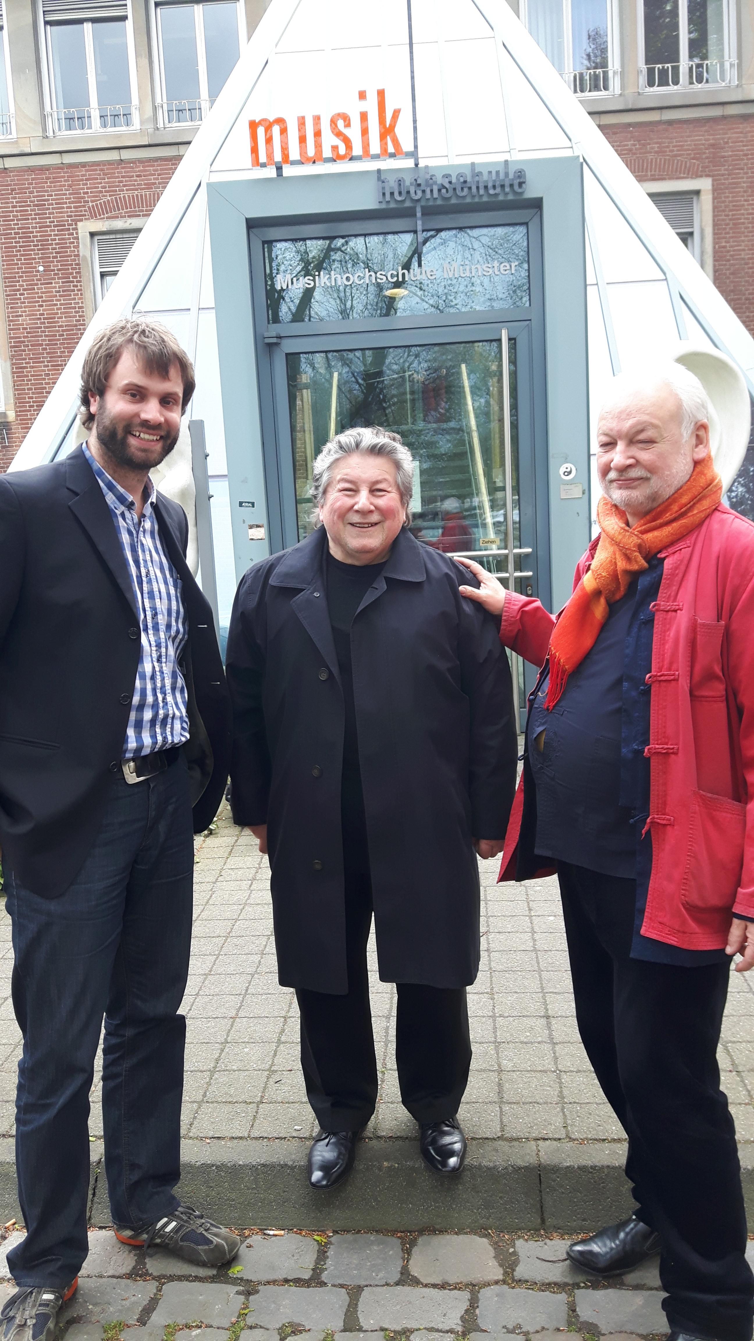 mit Anatolijus Šenderovas und Reinbert Evers